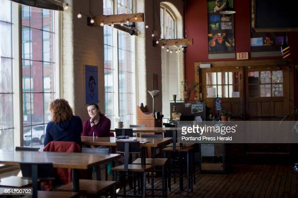 Zoe Konstantino right and her mother Valerie Konstantino of Freeport sit down for lunch at Frontier Cafe The Konstantinos said they like coming to...