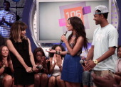 Zoe Kravitz 106 Park hosts Rocsi and Terrence J visit BET's '106 Park' at BET Studios on June 2 2011 in New York City
