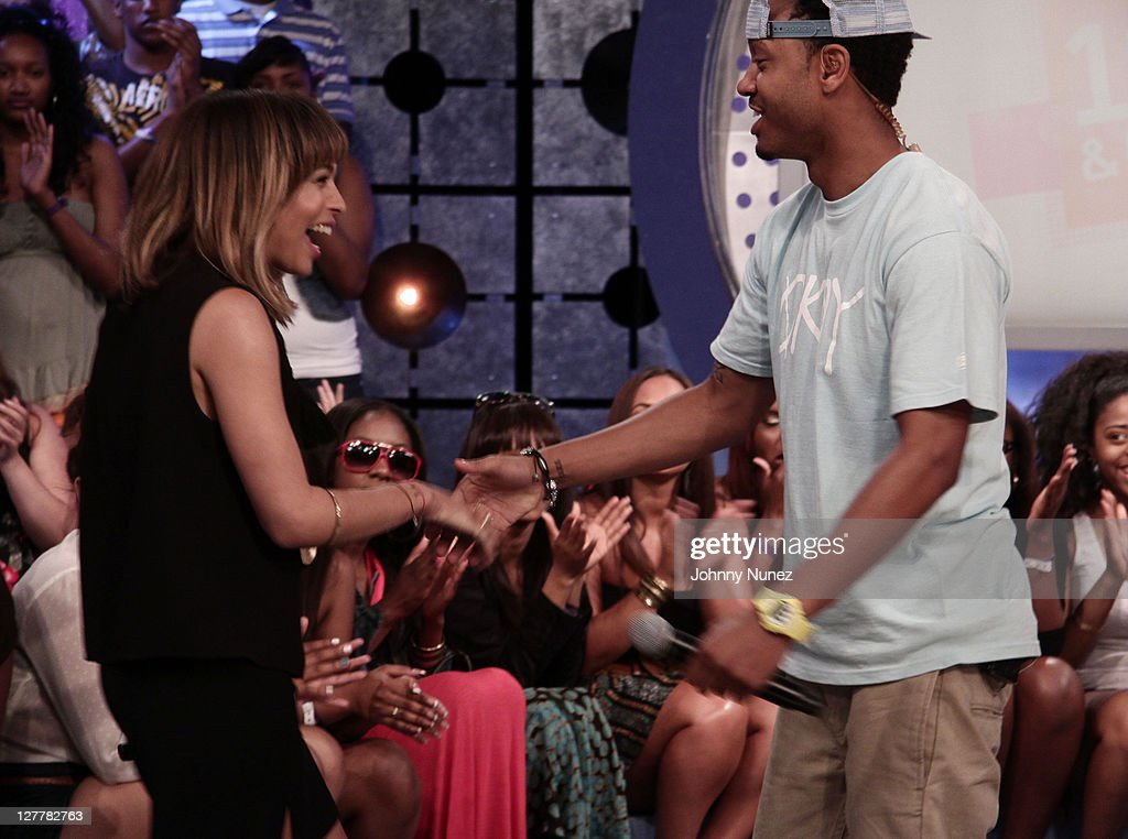 Zoe Kravitz and 106 Park host Terrence J visit BET's '106 Park' at BET Studios on June 2 2011 in New York City