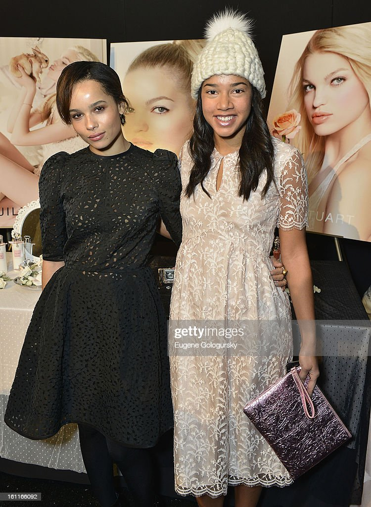 <a gi-track='captionPersonalityLinkClicked' href=/galleries/search?phrase=Zoe+Kravitz&family=editorial&specificpeople=680250 ng-click='$event.stopPropagation()'>Zoe Kravitz</a> and Hannah Bronfman attend Jill Stuart during Fall 2013 Mercedes-Benz Fashion Week at The Stage at Lincoln Center on February 9, 2013 in New York City.