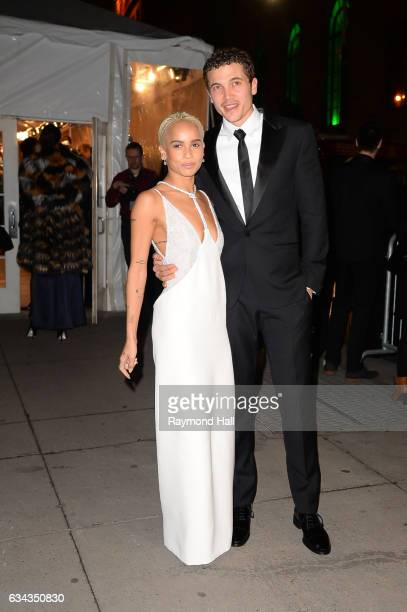 Zoe Kravitz and Karl Glusman attend the 19th annual amfAR's New York Gala to kick off NY Fashion Week at Cipriani Wall Street on February 8 2017 in...