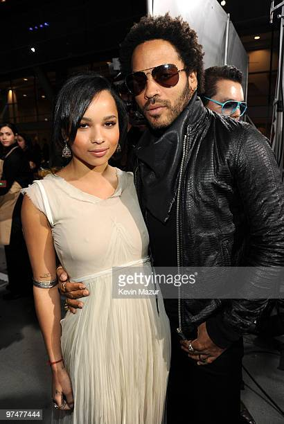 Zoe Kravitz and Lenny Kravitz arrives at the 25th Film Independent Spirit Awards held at Nokia Theatre LA Live on March 5 2010 in Los Angeles...
