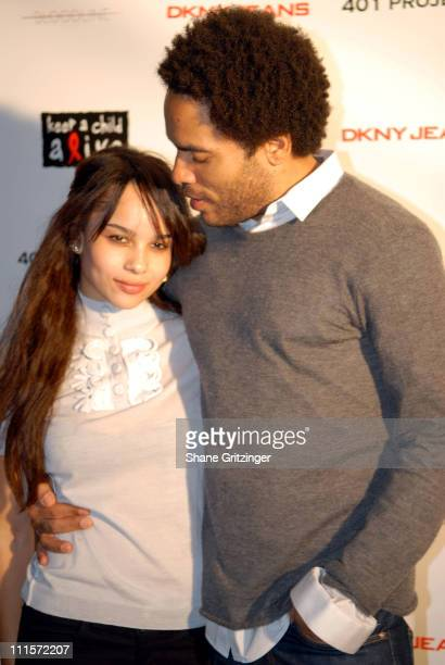 Zoe Kravitz and Lenny Kravitz during DKNY Jeans 401 Projects Hosted by Lenny Kravitz and Zoe Kravitz at 401 Projects in New York City NY United States