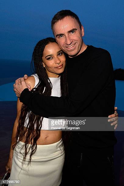 Zoe Kravitz and Raf Simons attend the Dior Croisiere 2016 at Palais Bulle on May 11 2015 in Theoule sur Mer France