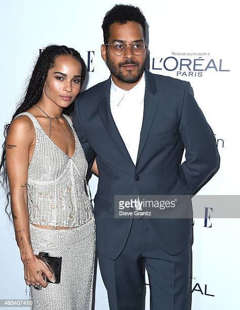 Zoe Kravitz and Twin Shadow arrives at the 22nd Annual ELLE Women In Hollywood Awards at Four Seasons Hotel Los Angeles at Beverly Hills on October...