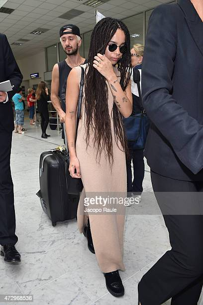 Zoe Kravitz arrives at Nice Airport during the 68th annual Cannes Film Festival on May 11 2015 in Cannes France