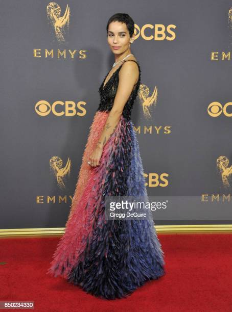 Zoe Kravitz arrives at the 69th Annual Primetime Emmy Awards at Microsoft Theater on September 17 2017 in Los Angeles California