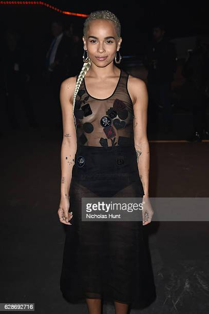 Zoe Kravitz attends Coach 75th Anniversary Women's PreFall and Men's Fall Show on December 8 2016 in New York City