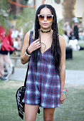 Zoe Kravitz attends Coachella wearing Marc by Marc Jacobs sunglasses on April 11 2015 in Palm Springs California