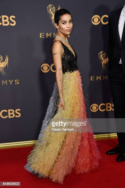 Zoe Kravitz attends the 69th Annual Primetime Emmy Awards at Microsoft Theater on September 17 2017 in Los Angeles California