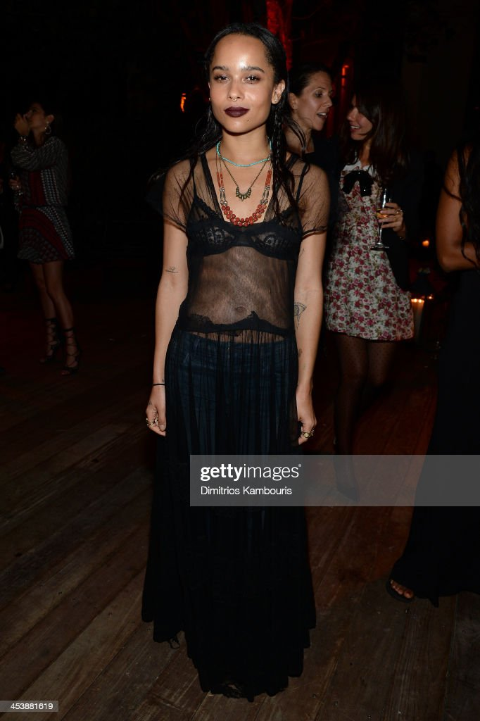 <a gi-track='captionPersonalityLinkClicked' href=/galleries/search?phrase=Zoe+Kravitz&family=editorial&specificpeople=680250 ng-click='$event.stopPropagation()'>Zoe Kravitz</a> attends the Aby Rosen & Samantha Boardman Dinner at The Dutch on December 5, 2013 in Miami Beach, Florida.