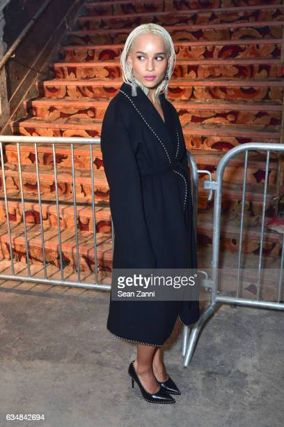 Zoe Kravitz attends the Alexander Wang show during New York Fashion Week at RKO Hamilton Theater on February 11 2017 in New York City
