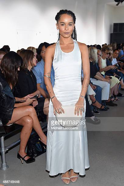 Zoe Kravitz attends the Calvin Klein Collection Spring 2016 fashion show during New York Fashion Week The Shows at Spring Studios on September 17...