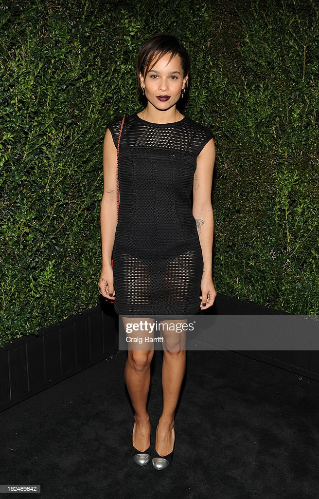 Zoe Kravitz attends the Chanel Pre-Oscar dinner at Madeo Restaurant on February 23, 2013 in Los Angeles, California.