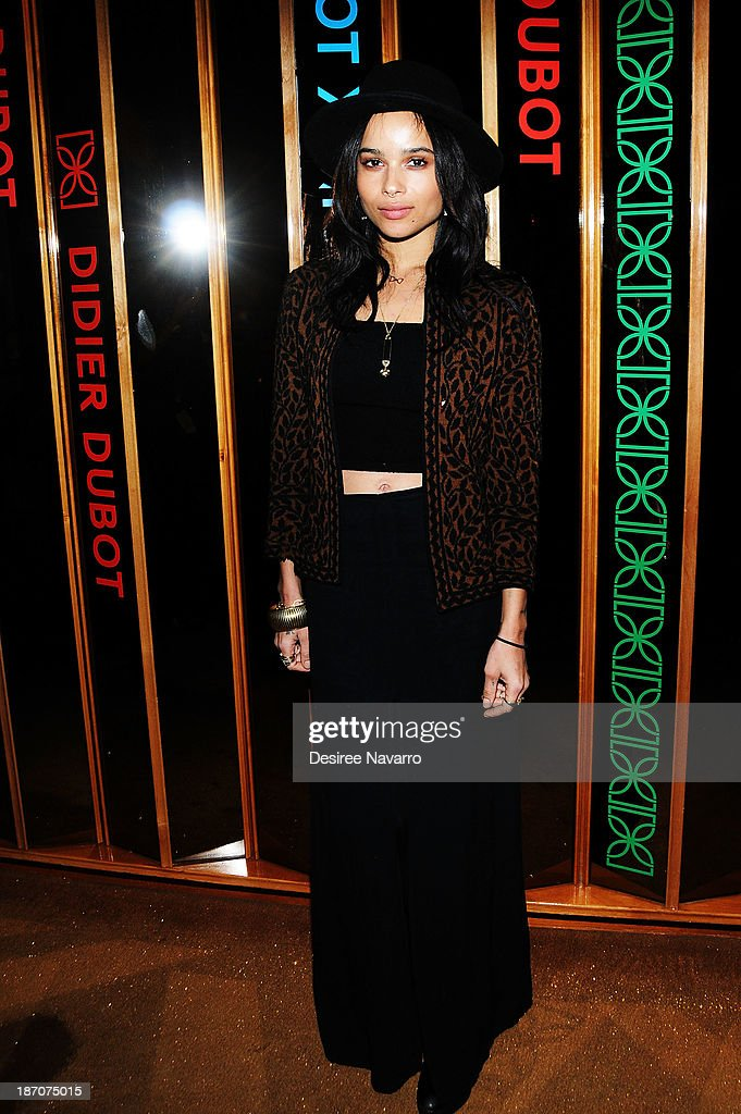 <a gi-track='captionPersonalityLinkClicked' href=/galleries/search?phrase=Zoe+Kravitz&family=editorial&specificpeople=680250 ng-click='$event.stopPropagation()'>Zoe Kravitz</a> attends the Didier Dubot Jewelry Launch at The Standard on November 5, 2013 in New York City.