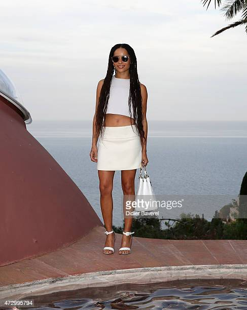 Zoe Kravitz attends the Dior Croisiere 2016 at Palais Bulle on May 11 2015 in Theoule sur Mer France