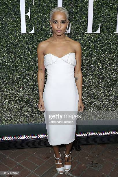 Zoe Kravitz attends the ELLE's Annual Women In Television Celebration 2017 Red Carpet at Chateau Marmont on January 14 2017 in Los Angeles California