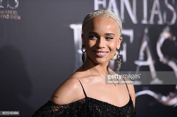 Zoe Kravitz attends the 'Fantastic Beasts And Where To Find Them' World Premiere at Alice Tully Hall Lincoln Center on November 10 2016 in New York...
