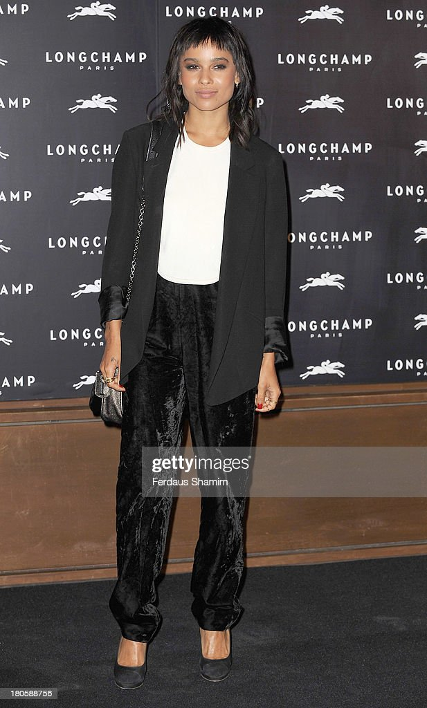 Zoe Kravitz attends the grand opening party of Longchamp Regent Street at Longchamp on September 14, 2013 in London, England.