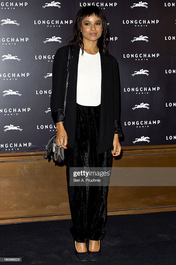 <a gi-track='captionPersonalityLinkClicked' href=/galleries/search?phrase=Zoe+Kravitz&family=editorial&specificpeople=680250 ng-click='$event.stopPropagation()'>Zoe Kravitz</a> attends the grand opening party of Longchamp Regent Street on September 14, 2013 in London, England.