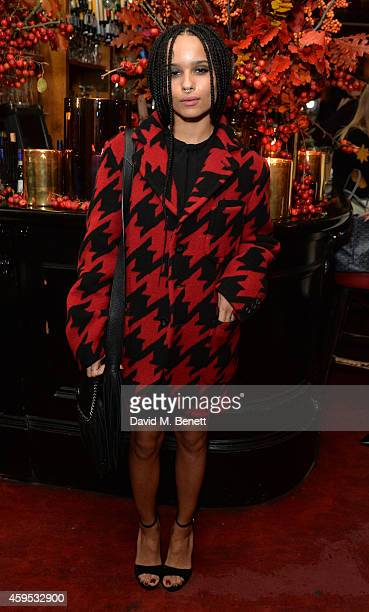 Zoe Kravitz attends the Thanksgiving dinner with Coach hosted by Zoe Kravitz and Mary Charteris on November 24 2014 in London England