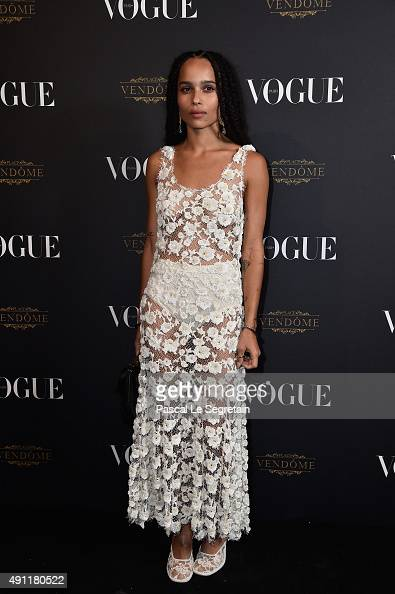 Zoe Kravitz attends the Vogue 95th Anniversary Party on October 3 2015 in Paris France
