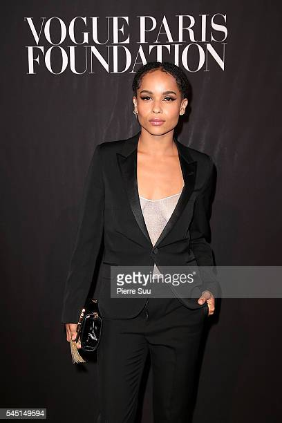 Zoe Kravitz attends the Vogue Foundation Gala 2016 at Palais Galliera on July 5 2016 in Paris France