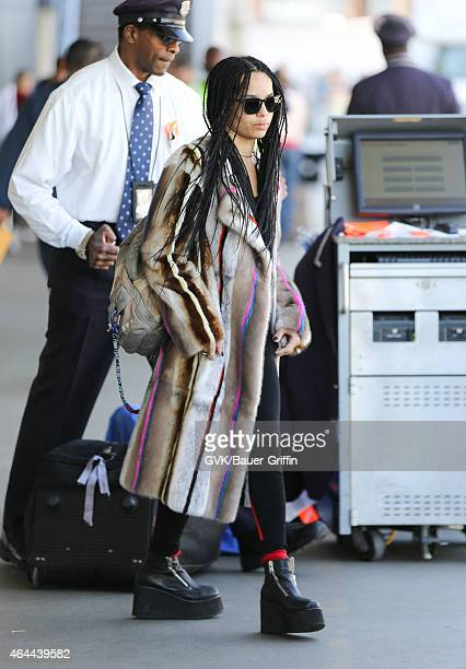 Zoe Kravitz is seen at LAX on February 25 2015 in Los Angeles California