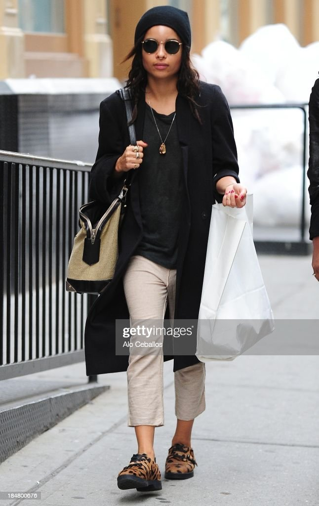 <a gi-track='captionPersonalityLinkClicked' href=/galleries/search?phrase=Zoe+Kravitz&family=editorial&specificpeople=680250 ng-click='$event.stopPropagation()'>Zoe Kravitz</a> is seen in Soho on October 16, 2013 in New York City.