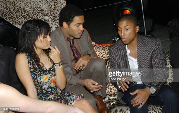 Zoe Kravitz Lenny Kravitz and Pharrell Williams
