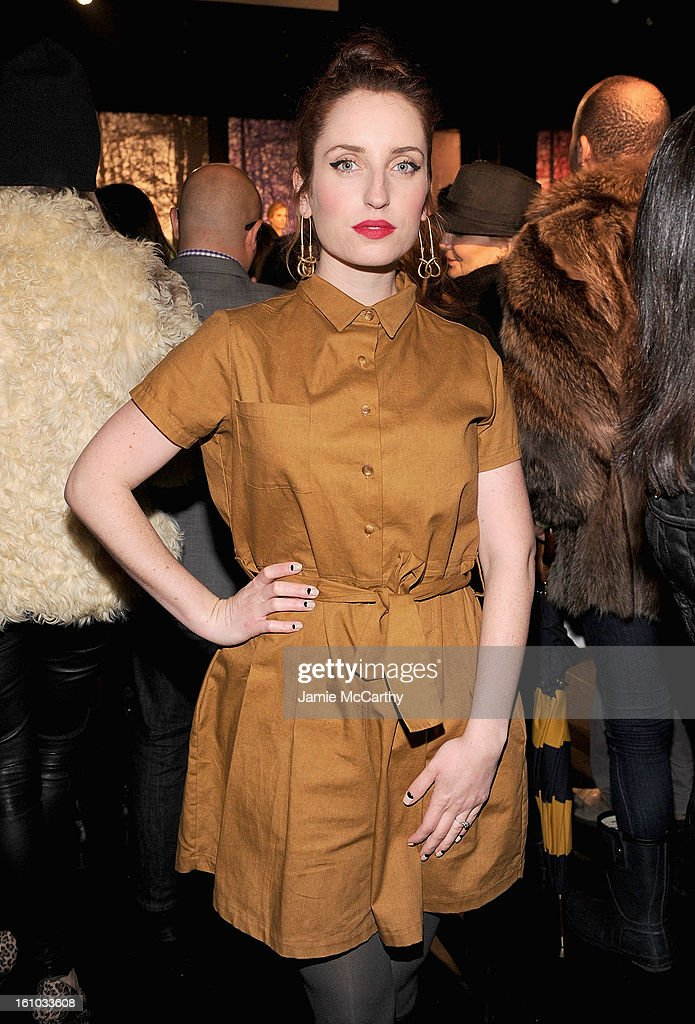 Zoe Lister attends the Charlotte Ronson Fall 2013 Mercedes-Benz Fashion Week Presentation at the Box at Lincoln Center on February 8, 2013 in New York City.