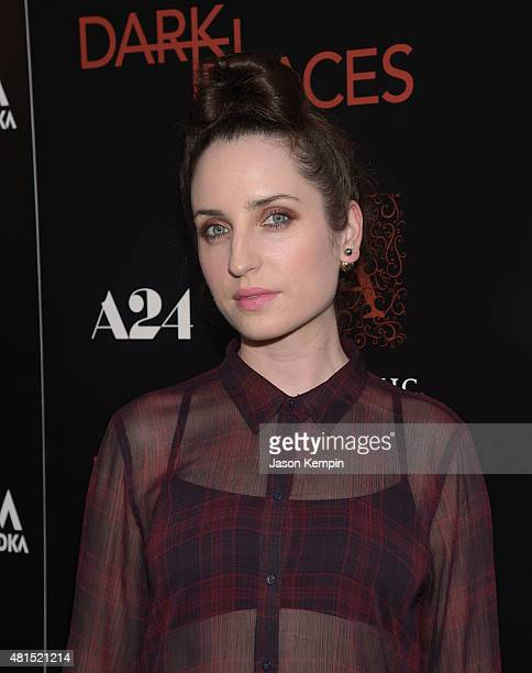 Zoe Lister Jones attends the premiere of 'Dark Places' at Harmony Gold Theatre on July 21 2015 in Los Angeles California