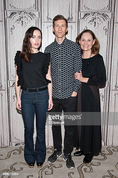 Zoe Lister Jones Daryl Wein and Beth Grant attend AOL BUILD Series 'Consumed' at AOL Studios In New York on November 20 2015 in New York City