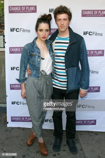 Zoe ListerJones and Daryl Wein attend The New York Premiere of 'CHANGE OF PLANS' at IFC Center on June 8 2010 in New York City