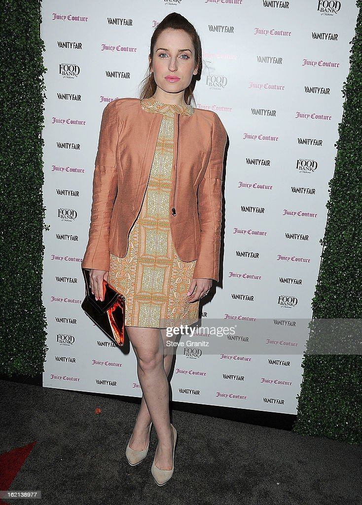 Zoe Lister-Jones arrives at the Vanity Fair And Juicy Couture Celebration Of The 2013 Vanities Calendar With Olivia Munn at Chateau Marmont on February 18, 2013 in Los Angeles, California.