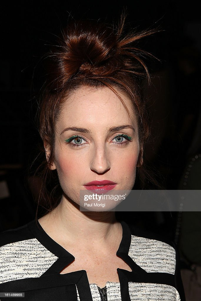 Zoe Lister-Jones attends ICB By Prabal Gurung during Fall 2013 Mercedes-Benz Fashion Week at The Studio at Lincoln Center on February 11, 2013 in New York City.