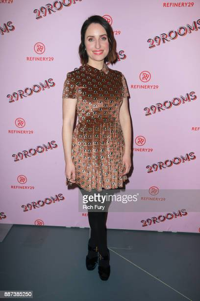 Zoe ListerJones attends Refinery29 29Rooms Los Angeles Turn It Into Art Opening Night Party at ROW DTLA on December 6 2017 in Los Angeles California