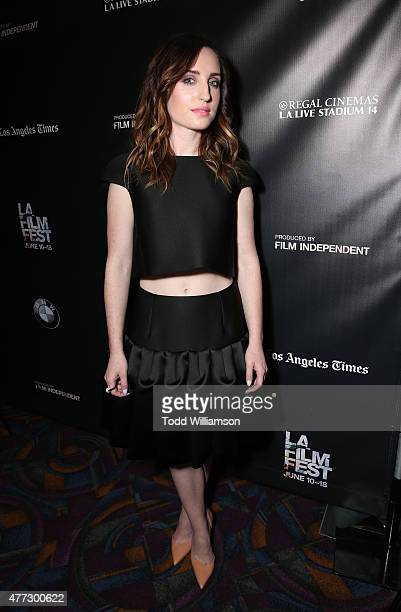 Zoe ListerJones attends the 2015 Los Angeles Film Festival Premiere Of Mister Lister Films' 'Consumed' at Regal Cinemas LA Live on June 15 2015 in...