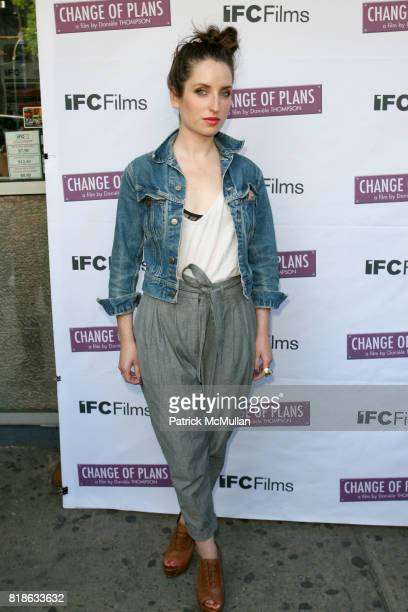 Zoe ListerJones attends The New York Premiere of 'CHANGE OF PLANS' at IFC Center on June 8 2010 in New York City