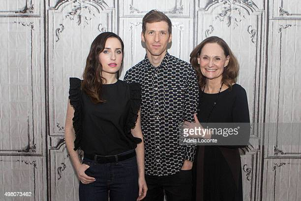 Zoe ListerJones Daryl Wein and Beth Grant attend at AOL Studios In New York on November 20 2015 in New York City