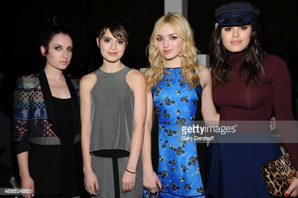 Zoe ListerJones Sami Gayle Peyton List and Atlanta de Cadenet attend the ICB By Prabal Gurung Show during MercedesBenz Fashion Week Fall 2014 at...
