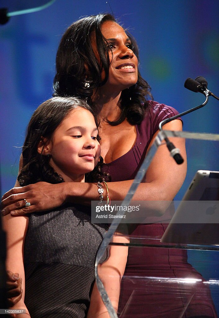 Zoe Madeline Donovan and <a gi-track='captionPersonalityLinkClicked' href=/galleries/search?phrase=Audra+McDonald&family=editorial&specificpeople=212782 ng-click='$event.stopPropagation()'>Audra McDonald</a> attend PFLAG National's 2012 Straight for Equality Awards gala at the Marriott Marquis Times Square on April 2, 2012 in New York City.