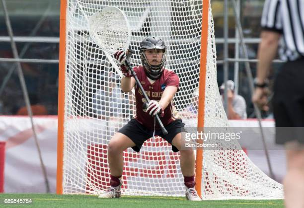 Zoe Ochoa of the Boston College Eagles with the ball during the Division I Women's Lacrosse Championship held at Gillette Stadium on May 28 2017 in...