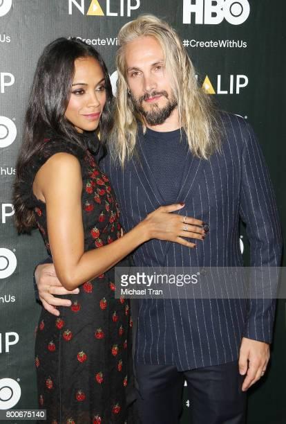 Zoe Saldana and Marco Perego Saldana attend the NALIP 2017 Latino Media Awards held at The Ray Dolby Ballroom at Hollywood Highland Center on June 24...