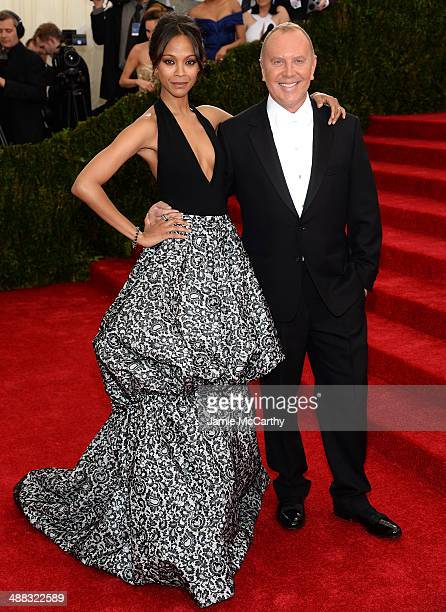 Zoe Saldana and Michael Kors attends the 'Charles James Beyond Fashion' Costume Institute Gala at the Metropolitan Museum of Art on May 5 2014 in New...