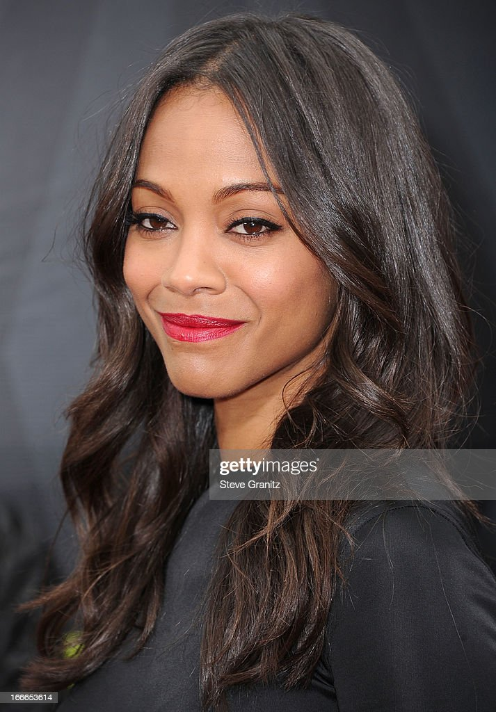 <a gi-track='captionPersonalityLinkClicked' href=/galleries/search?phrase=Zoe+Saldana&family=editorial&specificpeople=542691 ng-click='$event.stopPropagation()'>Zoe Saldana</a> arrives at the 2013 MTV Movie Awards at Sony Pictures Studios on April 14, 2013 in Culver City, California.
