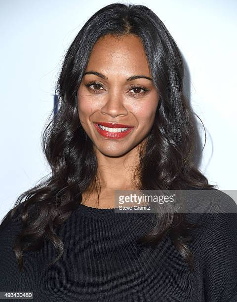 Zoe Saldana arrives at the 22nd Annual ELLE Women In Hollywood Awards at Four Seasons Hotel Los Angeles at Beverly Hills on October 19 2015 in Los...