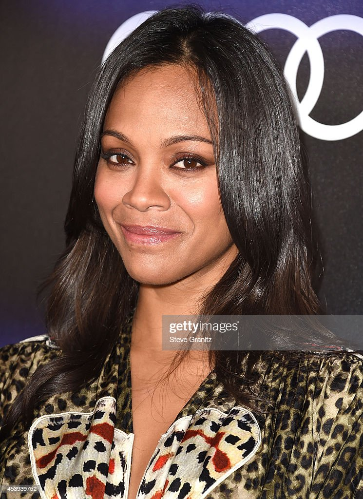 <a gi-track='captionPersonalityLinkClicked' href=/galleries/search?phrase=Zoe+Saldana&family=editorial&specificpeople=542691 ng-click='$event.stopPropagation()'>Zoe Saldana</a> arrives at the Audi Emmy Week Celebration at Cecconi's Restaurant on August 21, 2014 in Los Angeles, California.