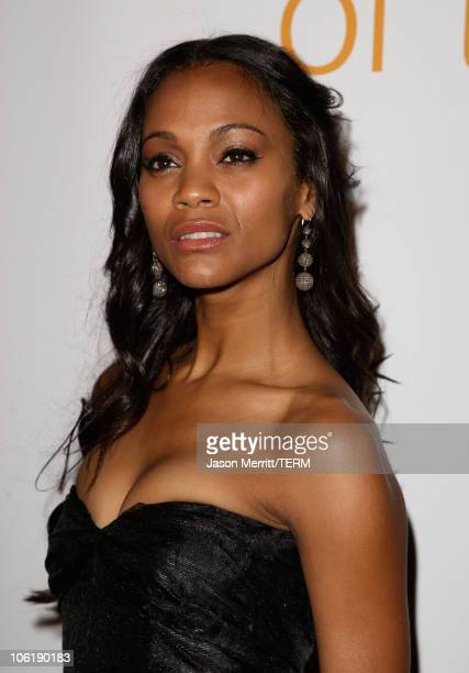 Zoe Saldana arrives to the 7th annual Hollywood Life Breakthrough of the Year Awards at the Music Box at the Fonda on December 9 2007 in Hollywood...