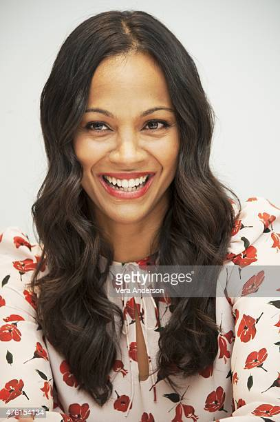 Zoe Saldana at the 'Infinitely Polar Bear' Press Confernce at the Four Seasons Hotel Los Angeles at Beverly Hills on June 5 2015 in Los Angeles...